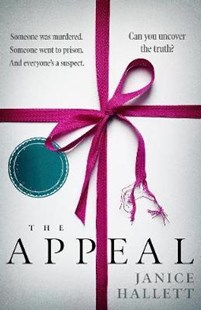 Cover of the book called The Appeal by Janice Hallett. Cover features a red ribbon tied around a stack of papers. Image is to accompany the book review on the same page.